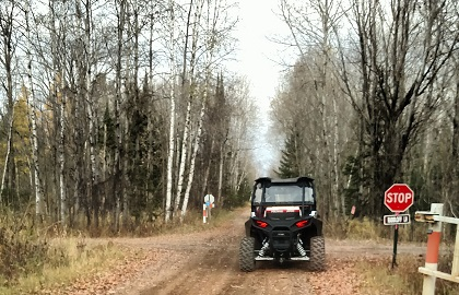 ATVs on trail near Gillett