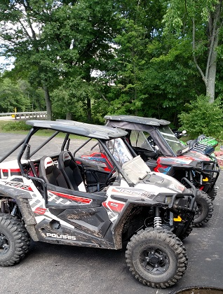ATV parked in Gillett